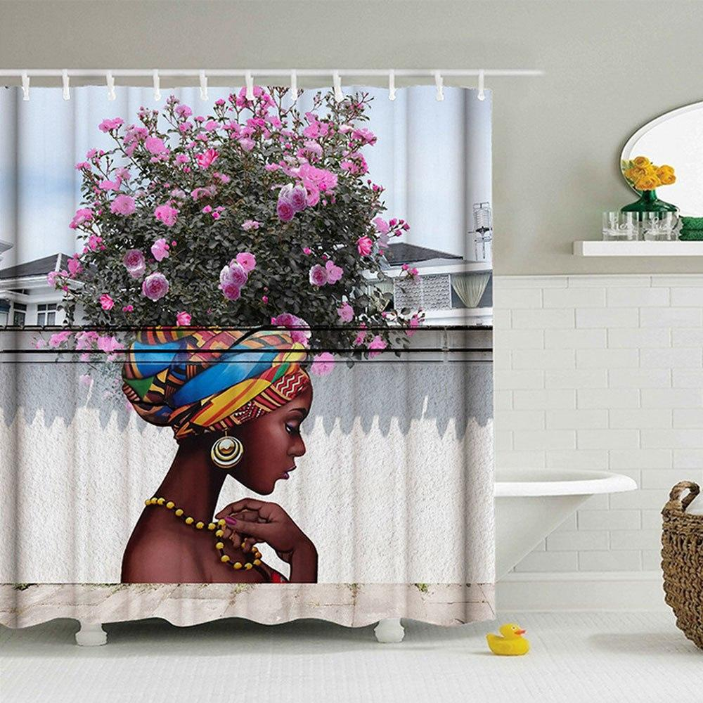 Black Is Art Shower Curtain