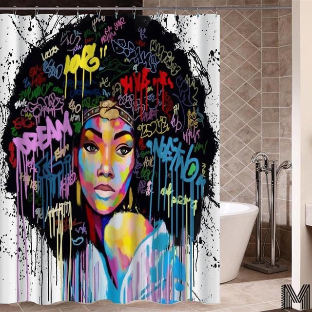 Somalian Queen Shower Curtain