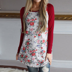 Vintage Floral Print Shirts Fashion