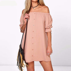 Sexy Off Shoulder Mini Party Dress Casual Loose