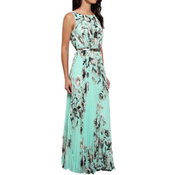 Women Long Dress Elegant Floral Print