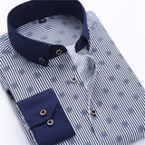 Men Dress Shirt Long Sleeve Slim Fit-big 4XL