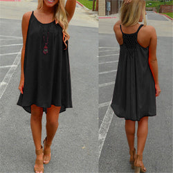 Sexy Strap Women Chiffon Dress