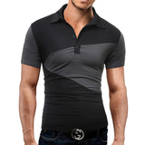 Men'S  Lapel Short-Sleeved