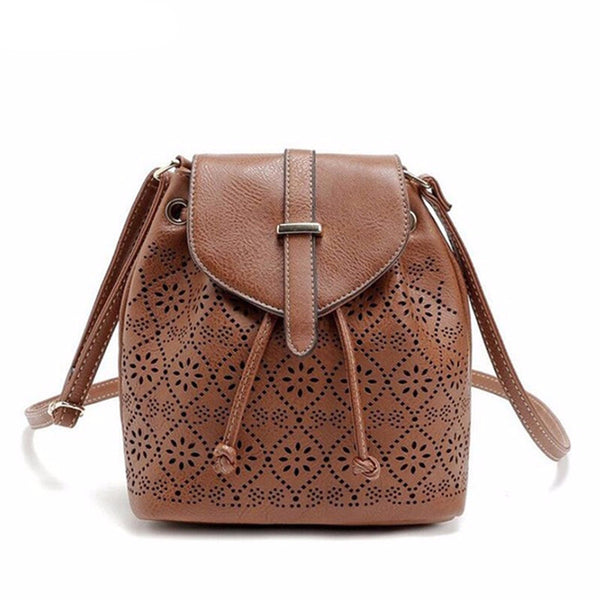 Vintage Women Bucket Bag Leather Women