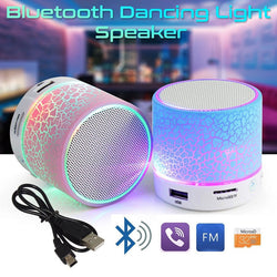 LED Portable Mini Bluetooth Speakers Wireless Mic Blutooth