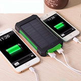 Waterproof 10000Mah Solar Power Bank Solar Charger Dual USB