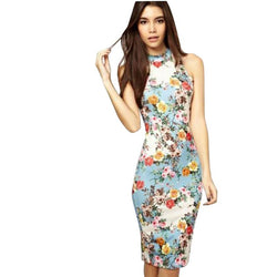 Elegant Women Dress Casual Summer Dress flower print