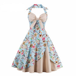 Summer Vintage Dress Flower design
