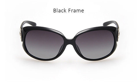 Luxury Brand Designer Large Size Women Polarized Sunglasses