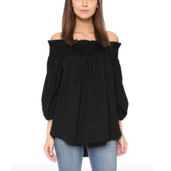 2017  Women Blouses Slash Off Shoulder