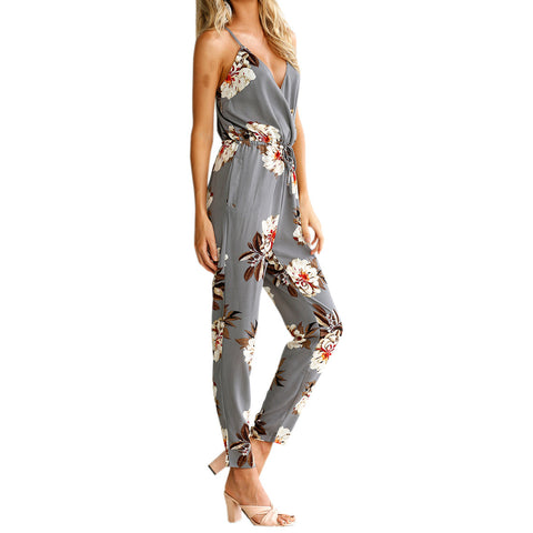 Jumpsuits Sexy Casual Floral Print