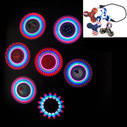 Cool USB Charge Hand Spinner Fidget Toys LED Rainbow Flash Light