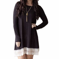 Summer Dress Long Sleeve Cover up Lace