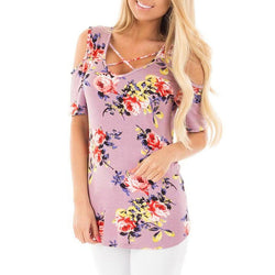 Front Crossed Floral Flower Printed