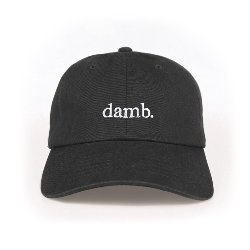 damb dad hat black smii7y official merch powered by 3blackdot