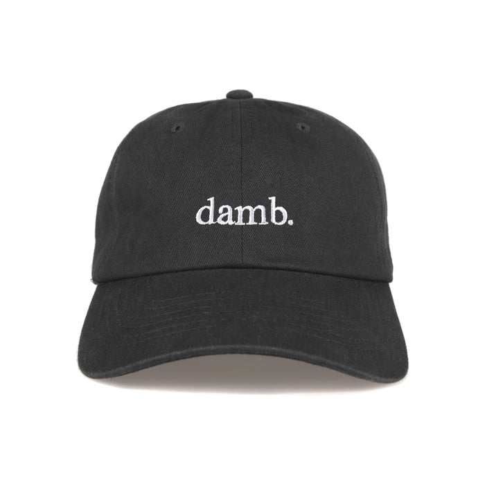 damb. DAD HAT (BLACK)
