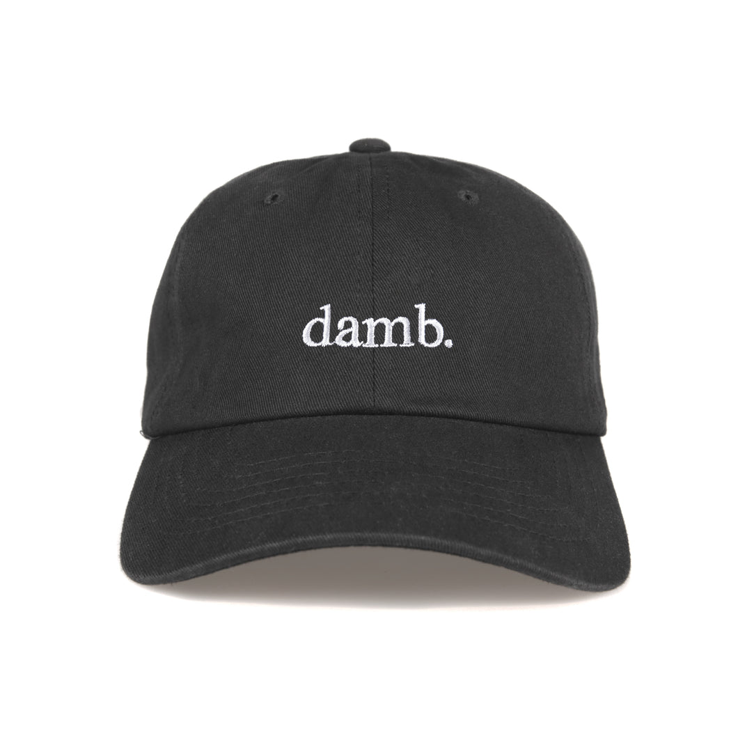 SMII7Y® | damb. DAD HAT (BLACK)