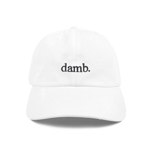 SMII7Y® | damb. DAD HAT (WHITE)