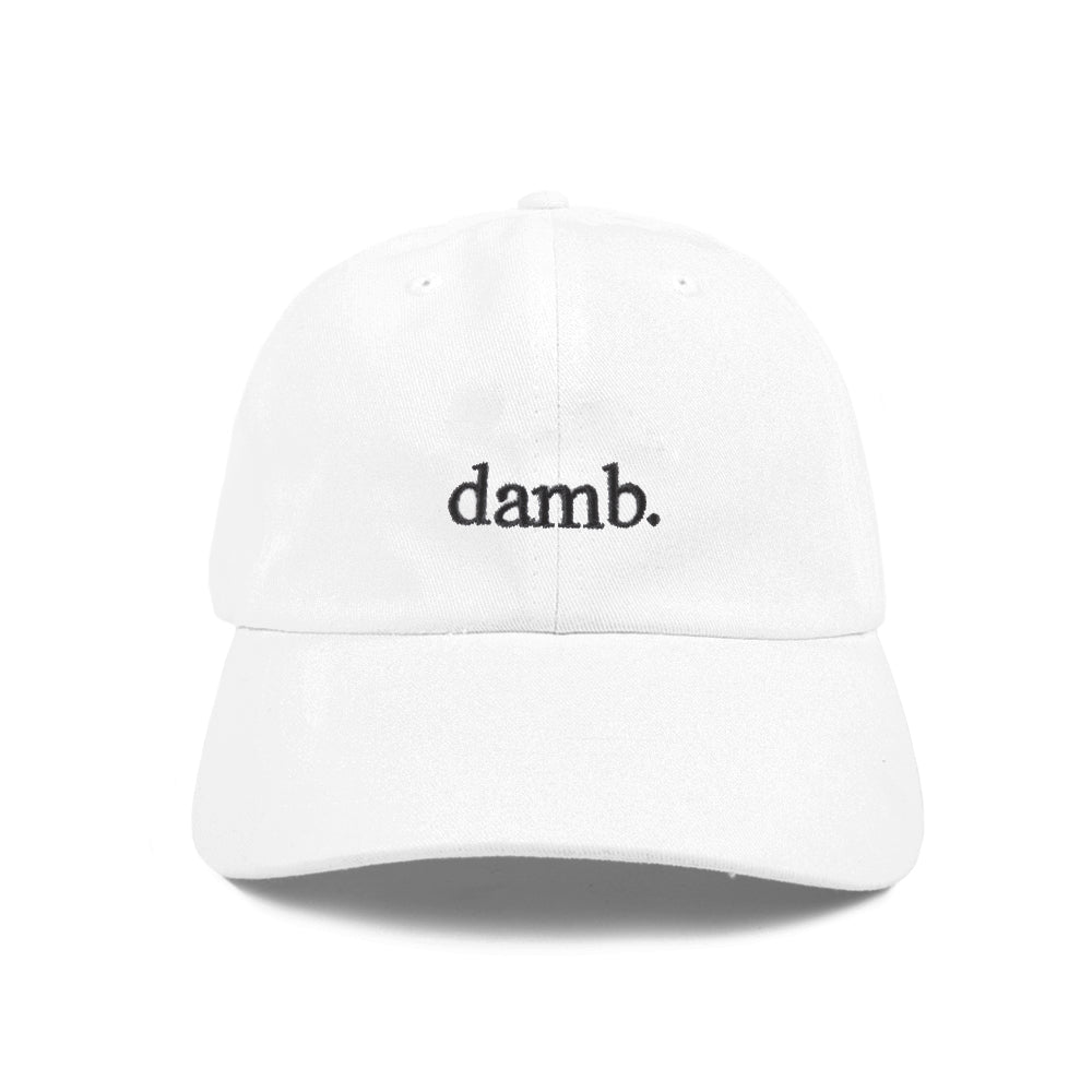damb. DAD HAT (WHITE)
