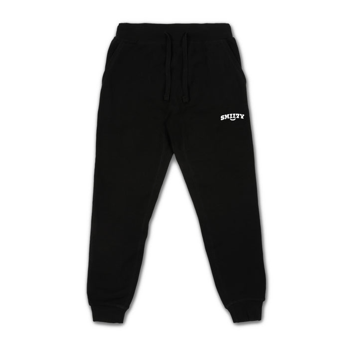 SMII7Y® | LOGO SWEATPANTS (BLACK)