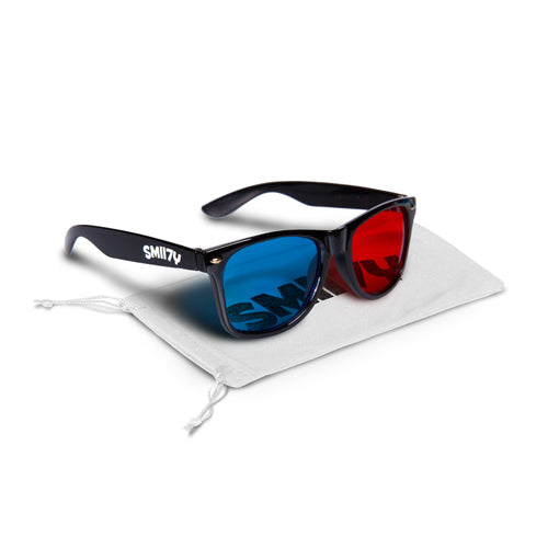 SMII7Y® | 3D SUNGLASSES (BLACK)