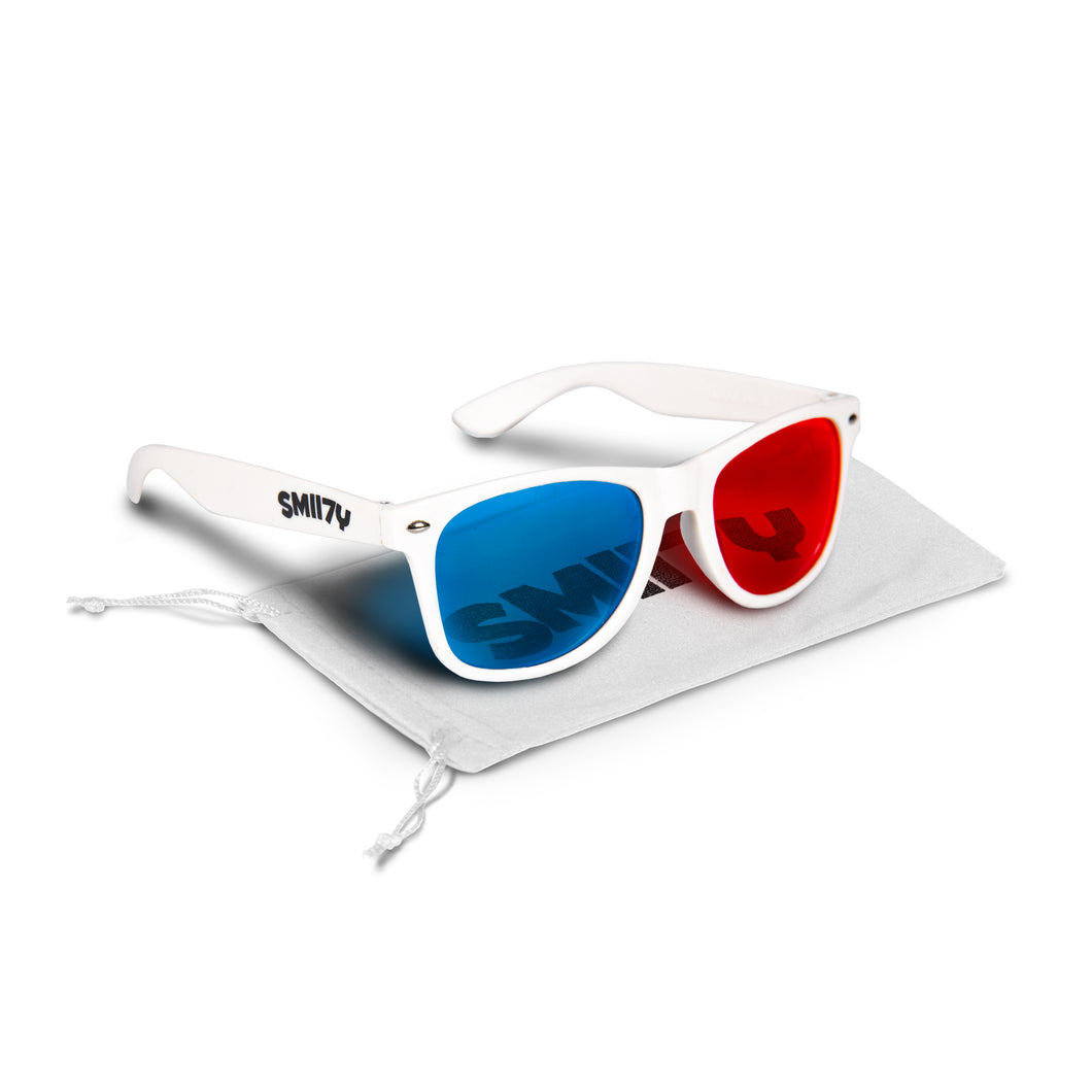 SMII7Y® | 3D SUNGLASSES (WHITE)