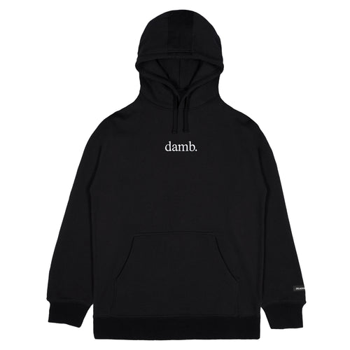 SMII7Y® | damb. EMBROIDERED HOODIE (BLACK)