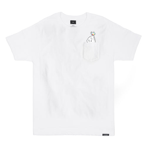 SMII7Y® | MILK BAG POCKET TEE (WHITE)