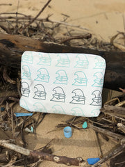 Surfing Wave Aloha Collective Medium White Pouch