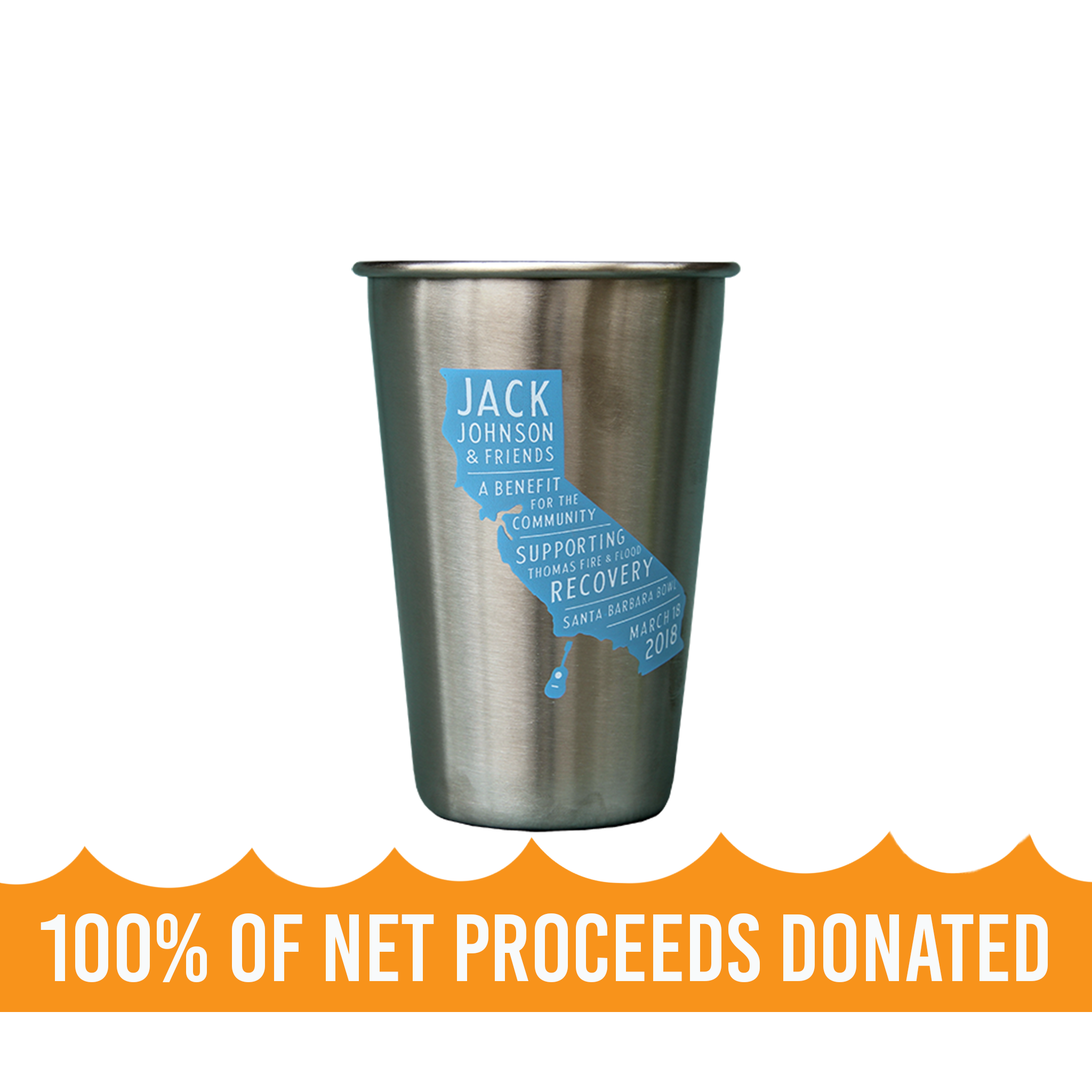 9fc9924f6e6 Steely's SB Bowl Benefit 16 oz Pint Cup | Featured | Jack Johnson