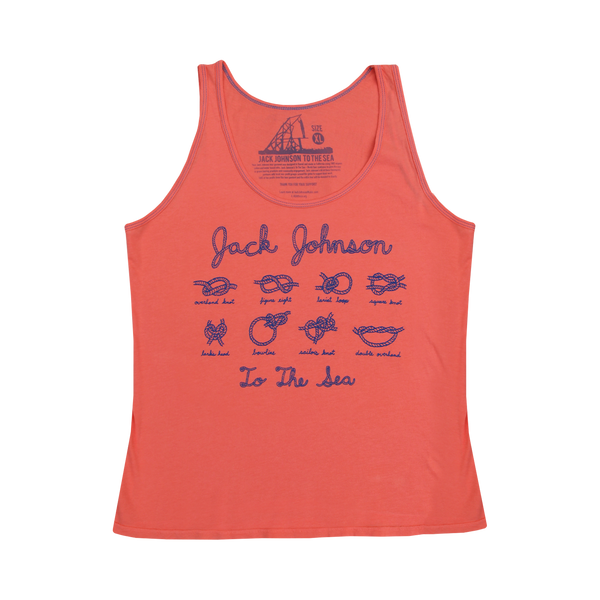 Ladies Coral To The Sea Rope Tank