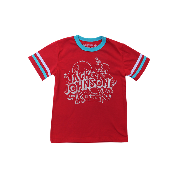 Kid's Red Football Tee