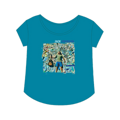 Ladies Teal All The Light Photo Tee