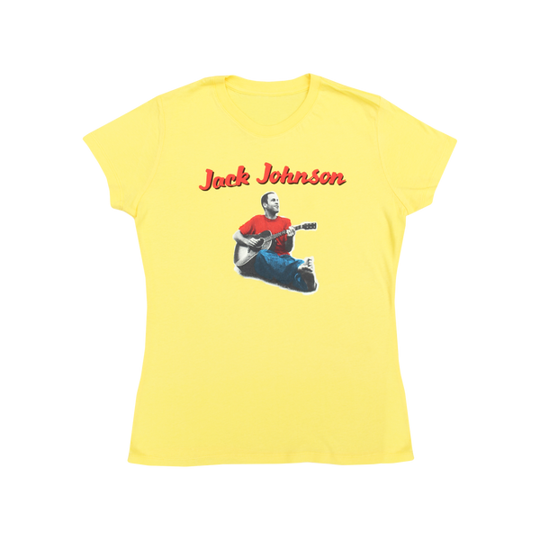 Ladies Yellow Curious Jack Tee