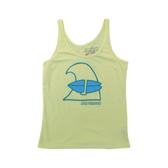 Ladies Yellow Wave Tank