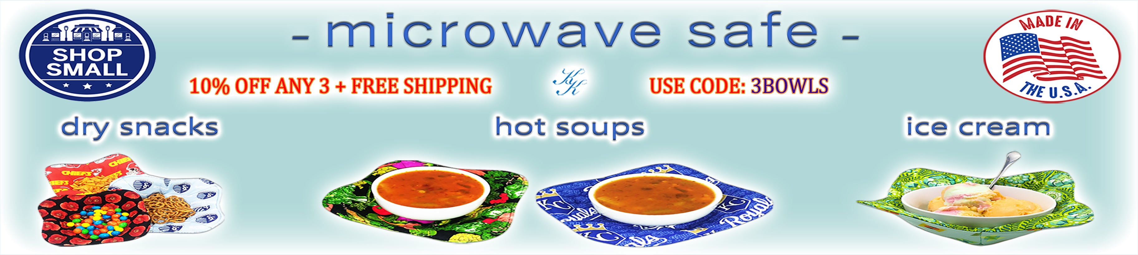 Microwave Bowl Holders - 10% OFF any 3 plus Free Shipping Use Code: 3BOWLS