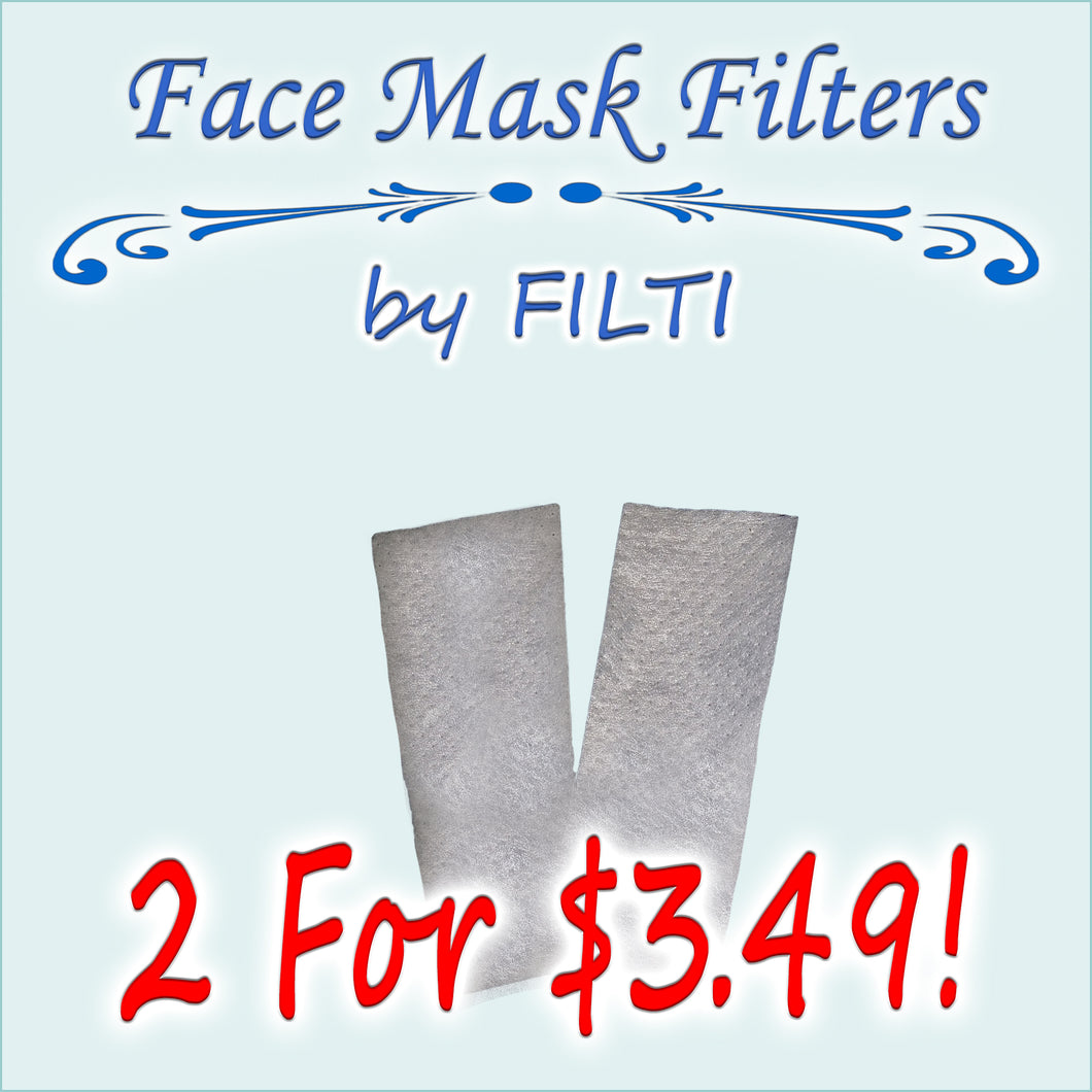 Two Face Mask Filters