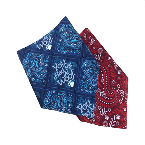 Blue - Red Pet Bandana - Karen's Kases