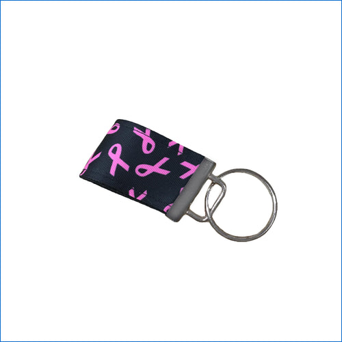 Breast Cancer Mini Key Fob - Karen's Kases