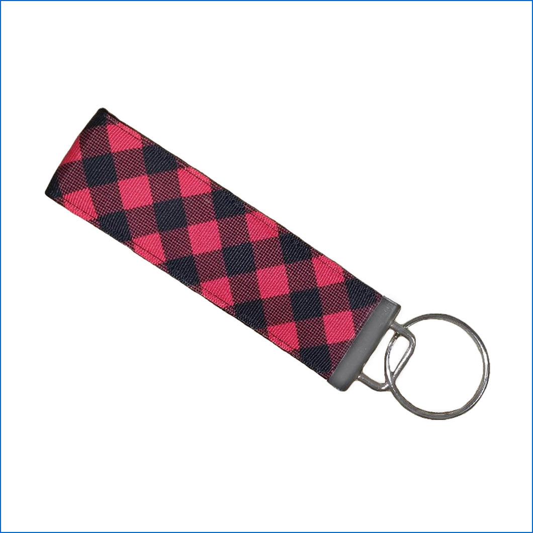 Buffalo Plaid Key Fob - Karen's Kases