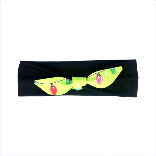 Christmas Lights on Black Urban Headband - Karen's Kases