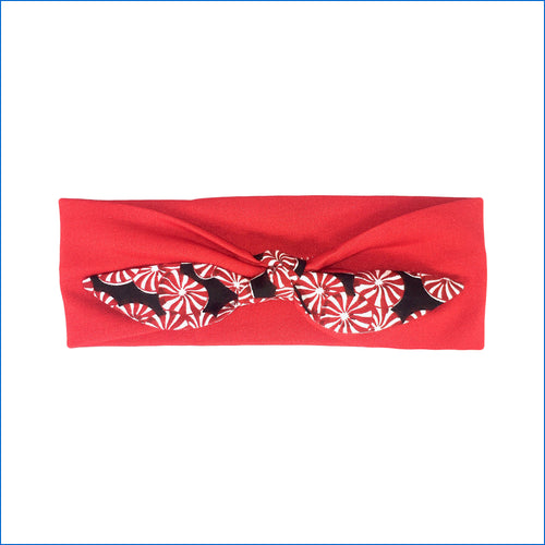 Christmas Peppermint Candy on Red Urban Headband - Karen's Kases