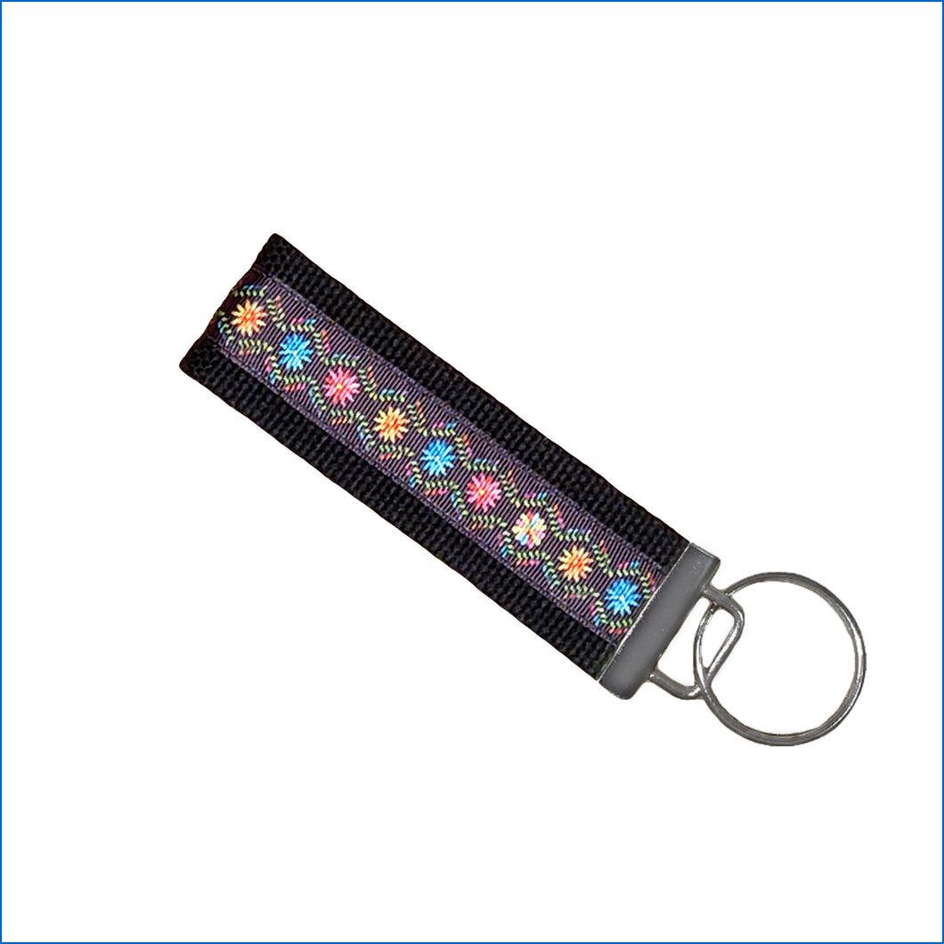 Colorful Daisies Key Fob