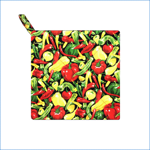 Colorful Peppers Potholder