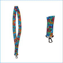 Colorful Swirls Lanyard