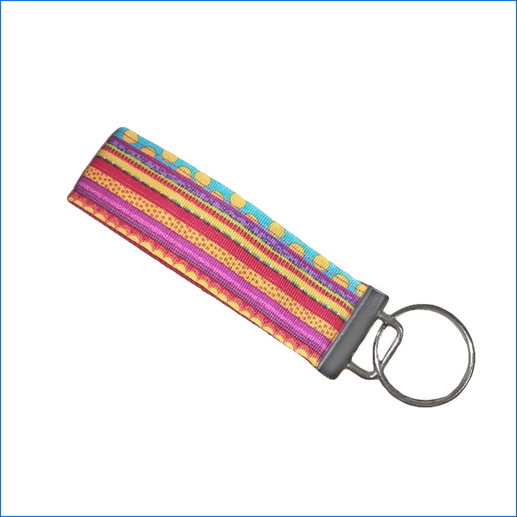 Colorful Stripes Key Fob - Karen's Kases