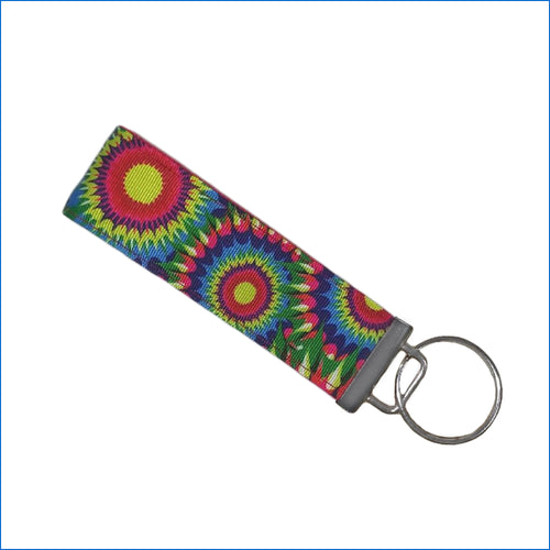 Sunflower Burst Key Fob - Karen's Kases