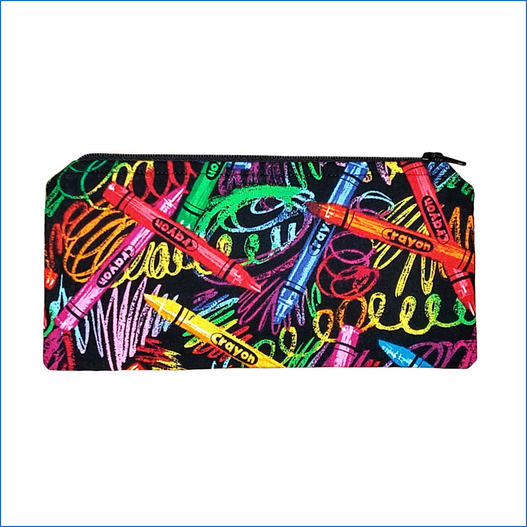 Crayon Swirls Pencil Bag
