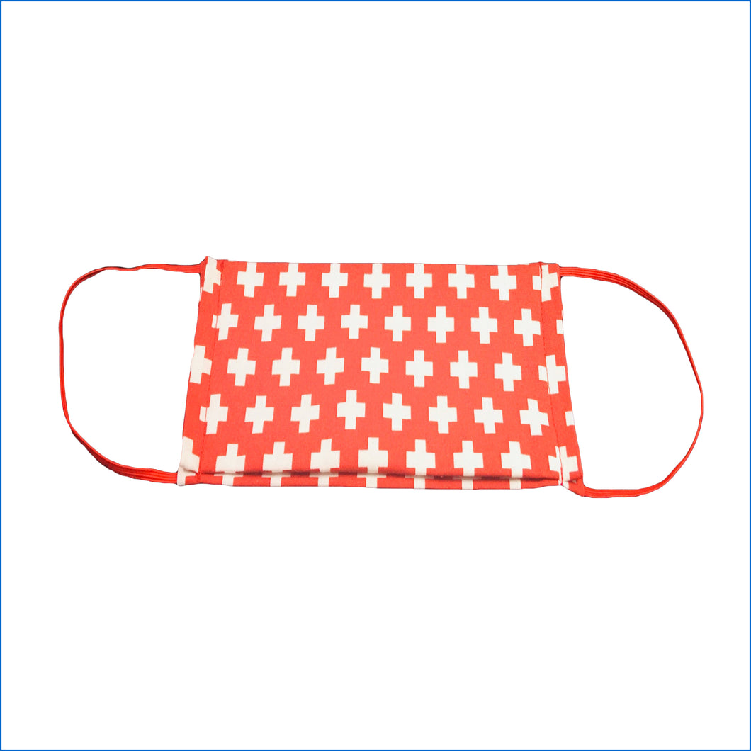 Crosses Red Face Mask - Karen's Kases